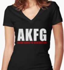 AKFG Asian Kung-Fu Generation Women's Fitted V-Neck T-Shirt