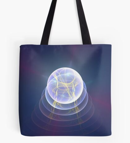 Planet Light #Fractal Art Tote Bag