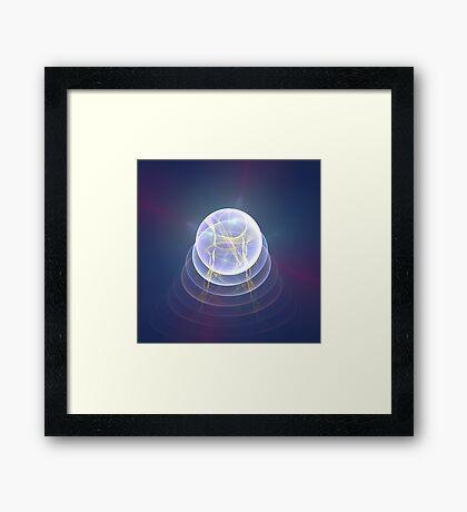 Planet Light #Fractal Art Framed Print