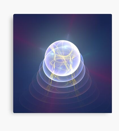Planet Light #Fractal Art Canvas Print