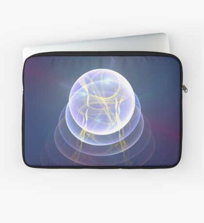 Planet Light #Fractal Art Laptop Sleeve