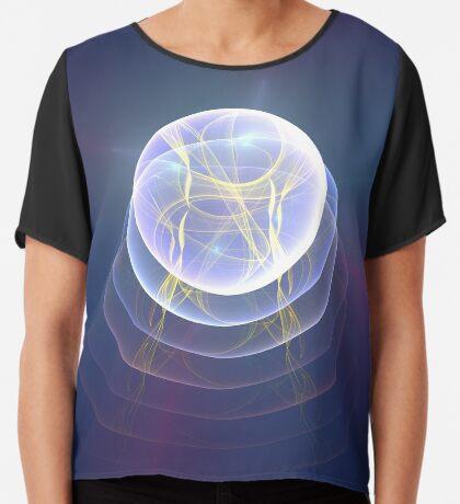 Planet Light #Fractal Art Chiffon Top