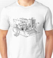 Patent - SIGABA Cryptography Machine T-Shirt