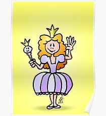 Pretty Princess from a fairy tale Poster