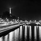 Eiffel Tower overview - panorama (Black & White) by Mathieu Longvert