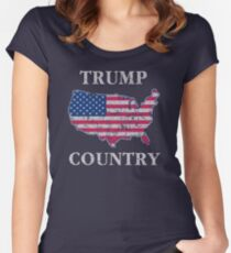 Trump Country 45th POTUS Women's Fitted Scoop T-Shirt