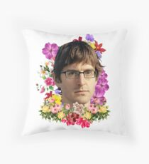 Louis Theroux Floral Throw Pillow