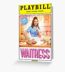 Waitress Opening Night Playbill Greeting Card