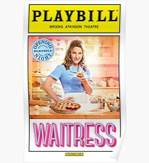 Waitress Opening Night Playbill Poster