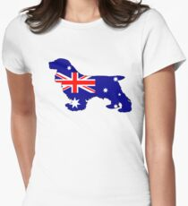 Australian Flag - Cocker Spaniel Womens Fitted T-Shirt