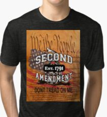 Dont Tread on Me US Constitution Gadsden Flag Shirt, Posters, Stickers, Cards, Pillow, Cases Tri-blend T-Shirt