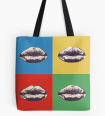 Lips Andy Warhol sticker Tote Bag
