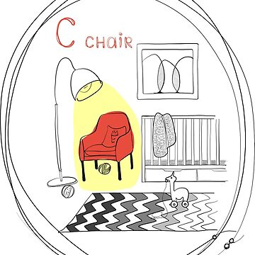 """Chair alphabet"" by HEARTartROOM"