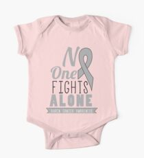 No One Fights Alone - Brain Cancer Awareness Kids Clothes
