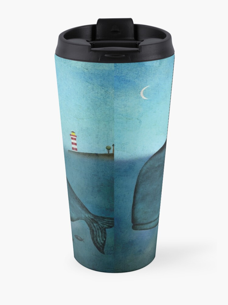 Alternate view of Whale and dog Travel Mug