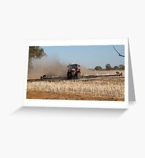 Mulching The Stubble .... Greeting Card