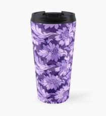 Floral - Purple High Contrast Travel Mug