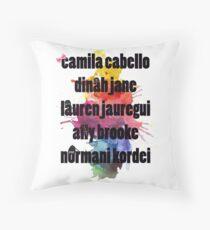5H Names Splash! Throw Pillow