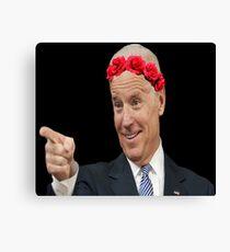 Joe Biden Flower Crown Canvas Print
