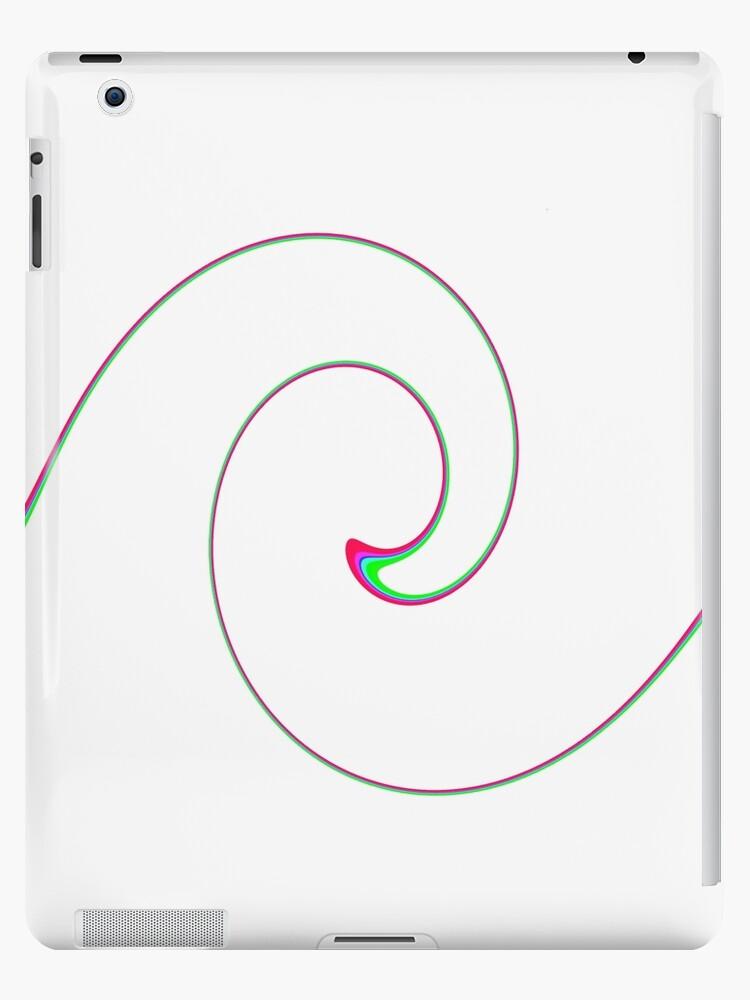 Red Twirl on White, iPad Case by Betty Mackey