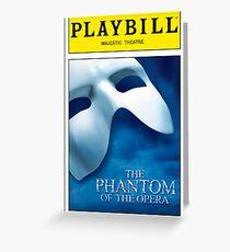 Phantom of the Opera Playbill Greeting Card