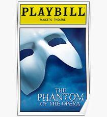 Phantom of the Opera Playbill Poster