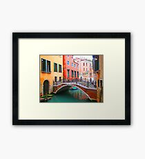 Canal of dreams Framed Print