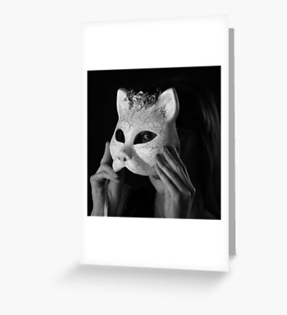 Cat Woman Greeting Card