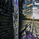 Vietnam War memorial on a sunny sunday morning  by Sven Brogren
