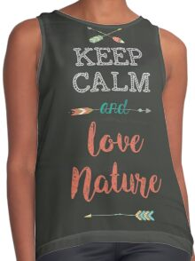 Keep Calm and love Nature Contrast Tank