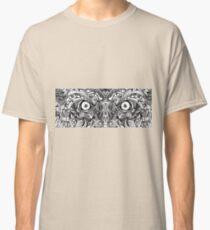 Raw Rough Mean Angry Evil Eyes Sharp Detailed Hand Drawn Classic T-Shirt