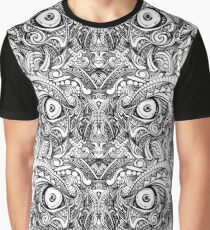 Raw Rough Mean Angry Evil Eyes Sharp Detailed Hand Drawn Graphic T-Shirt