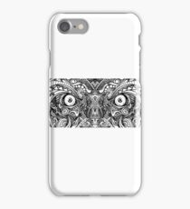 Raw Rough Mean Angry Evil Eyes Sharp Detailed Hand Drawn iPhone Case/Skin