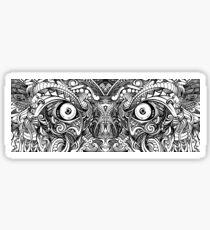 Raw Rough Mean Angry Evil Eyes Sharp Detailed Hand Drawn Sticker