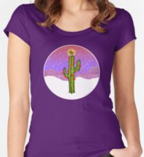 Christmas Cactus Fitted Scoop T-Shirt
