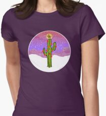Christmas Cactus Women's Fitted T-Shirt
