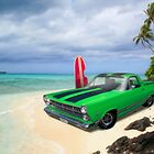 1967 Ford Ranchero at High Tide by ChasSinklier