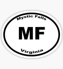 Mystic Falls - Euro Style Car Sticker Sticker