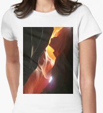 Desert Sand Design One Women's Fitted T-Shirt