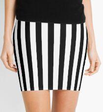 Stripes Black White Mini Skirt