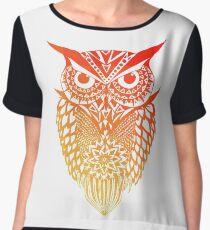Owl orange gradient Chiffon Top