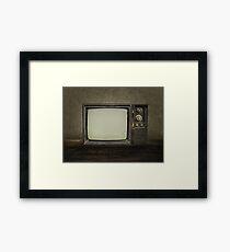 Vintage Television Framed Print