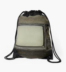 Vintage Television Drawstring Bag