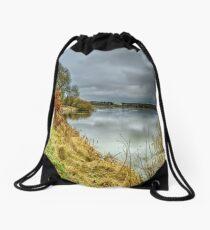 River bank Drawstring Bag