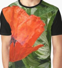 Amongst the green there is a Red Poppy Graphic T-Shirt