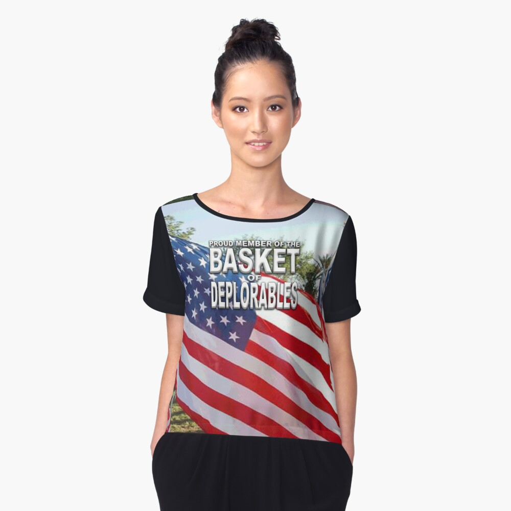 BASKET OF DEPLORABLES Women's Chiffon Top Front