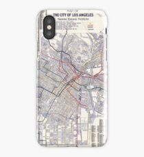 Los Angeles - Map of the railway systems - 1906 iPhone Case/Skin
