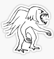 Evil Bird Drawing Sticker