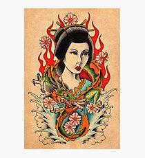 Dragon Geisha Photographic Print