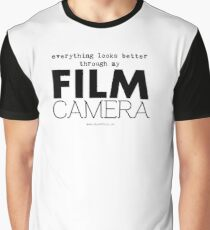 """Everything looks better through my film camera"" Graphic T-Shirt"